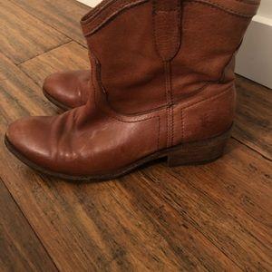 Frye cowboy booties